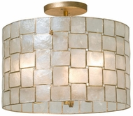Kalco 505840OL Roxy Modern Oxidized Gold Leaf Flush Mount Light Fixture