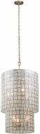Kalco 505850OL Roxy Contemporary Oxidized Gold Leaf Foyer Light Fixture
