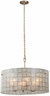 Kalco 505851OL Roxy Modern Oxidized Gold Leaf 27  Drum Pendant Light