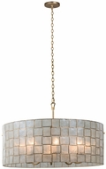 Kalco 505852OL Roxy Contemporary Oxidized Gold Leaf 33  Drum Lighting Pendant