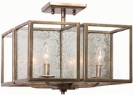 Kalco 506041RSL Camilla Rustic Silver Leaf Ceiling Light Fixture