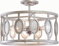 Kalco 506141VSL Palomar Contemporary Vintage Silver Leaf Semi-Flush Flush Lighting