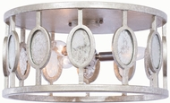 Kalco 506142VSL Palomar Modern Vintage Silver Leaf Flush Mount Lighting