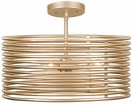 Kalco 506440MG Emery Modern Modern Gold Flush Mount Lighting Fixture