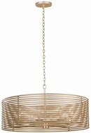 Kalco 506453MG Emery Modern Modern Gold 32  Drum Hanging Light