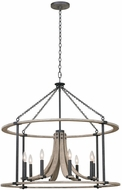 Kalco 506653NI Middleton Natural Iron 34  Hanging Pendant Lighting