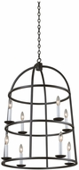 Kalco 506950BI Wickenburg Black Iron Foyer Lighting