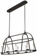 Kalco 506960BI Wickenburg Black Iron Island Light Fixture