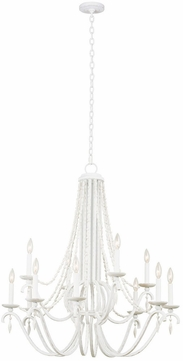 Kalco 507272DW Acadia Distressed White Chandelier Lighting