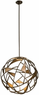 Kalco 507351BZG Neptune Modern Bronze Gold LED 28  Drop Ceiling Lighting