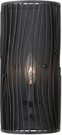 Kalco 507520BI Morre Modern Black Iron Lighting Wall Sconce