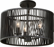 Kalco 507540BI Morre Contemporary Black Iron Ceiling Lighting