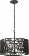 Kalco 507541BI Morre Modern Black Iron 21  Drum Pendant Light