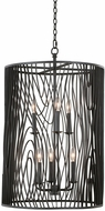 Kalco 507550BI Morre Contemporary Black Iron Drum Lighting Pendant