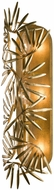 Kalco 507621OL Jardin Contemporary Oxidized Gold Leaf Wall Light Sconce