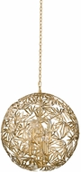 Kalco 507651OL Jardin Contemporary Oxidized Gold Leaf 24  Drop Ceiling Light Fixture