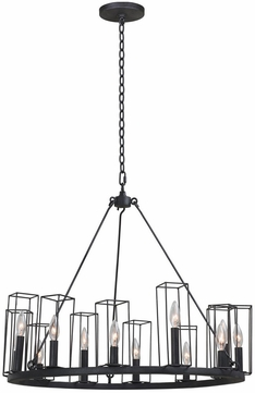 Kalco 507770BI Allston Contemporary Black Iron 28  Lighting Chandelier