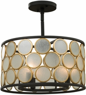 Kalco 507940BMG Corsa Modern Matte Black w Gold Ceiling Light