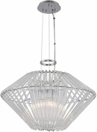 Kalco 508451CH Taza Modern Chrome 22  Pendant Lighting Fixture