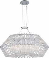 Kalco 508452CH Taza Contemporary Chrome 28  Hanging Pendant Lighting