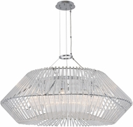 Kalco 508453CH Taza Modern Chrome 36  Hanging Pendant Light