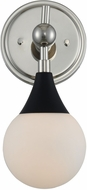 Kalco 508531BPN Bogart Contemporary Matte Black w Polished Nickel Wall Light Sconce