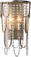 Kalco 508820CSL Dulce Champagne Silver Leaf Sconce Lighting