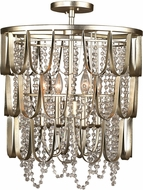 Kalco 508840CSL Dulce Champagne Silver Leaf Ceiling Light Fixture / Pendant Lighting