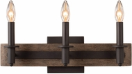 Kalco 508933SZ Duluth Satin Bronze 3-Light Lighting For Bathroom