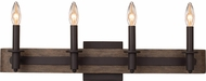 Kalco 508934SZ Duluth Satin Bronze 4-Light Bath Lighting