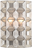 Kalco 509120OSL Prado Contemporary Oxidized Silver Leaf Wall Sconce Lighting