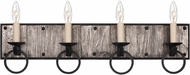 Kalco 509234BI Laramie Black Iron 4-Light Vanity Lighting