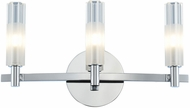 Kalco 509633CH Lorne Modern Chrome LED 3-Light Bath Light Fixture