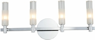 Kalco 509634CH Lorne Contemporary Chrome LED 4-Light Bath Lighting Fixture