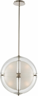 Kalco 509751PN Sussex Modern Polished Nickel LED 14  Ceiling Light Pendant