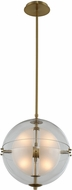 Kalco 509751WB Sussex Contemporary Winter Brass LED 14 Drop Ceiling Lighting