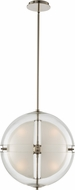 Kalco 509752PN Sussex Modern Polished Nickel LED 18  Ceiling Pendant Light
