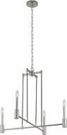 Kalco 509870PN Kingston Contemporary Polished Nickel Hanging Chandelier