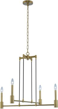 Kalco 509870WB Kingston Modern Winter Brass Chandelier Light