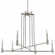 Kalco 509871PN Kingston Contemporary Polished Nickel Chandelier Lighting