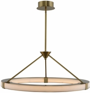 Kalco 509950WB Lavo Contemporary Winter Brass LED 28  Pendant Lighting