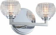 Kalco 510032CH Marina Modern Chrome LED 2-Light Bathroom Vanity Lighting