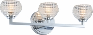 Kalco 510033CH Marina Contemporary Chrome LED 3-Light Bathroom Vanity Light