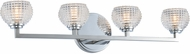 Kalco 510034CH Marina Modern Chrome LED 4-Light Bathroom Sconce