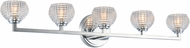 Kalco 510035CH Marina Contemporary Chrome LED 5-Light Bath Sconce