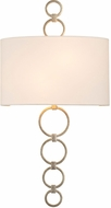 Kalco 510620CSL Carlyle Contemporary Champagne Silver Leaf Wall Lighting