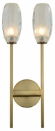 Kalco 511522WB June Contemporary Winter Brass LED Light Sconce