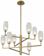 Kalco 511571WB June Contemporary Winter Brass LED Ceiling Chandelier