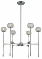 Kalco 511671CH Mae Contemporary Chrome LED Hanging Chandelier