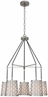 Kalco 511956PN Ariel Contemporary Polished Nickel Mini Chandelier Light